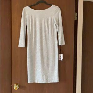 Silver glitter Calvin Klein dress. NWT!
